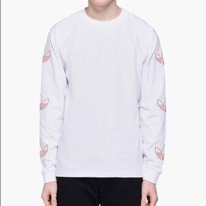 NWT Adidas Long Sleeve Embroidered Trefoil Tee